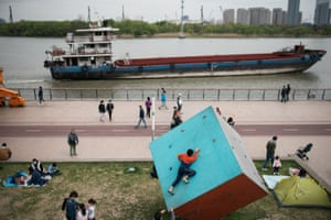 Shanghai, China Daily life returns to the waterside after authorities reopened most public facilities. Health authorities said the country had passed the peak of the Covid-19 outbreak