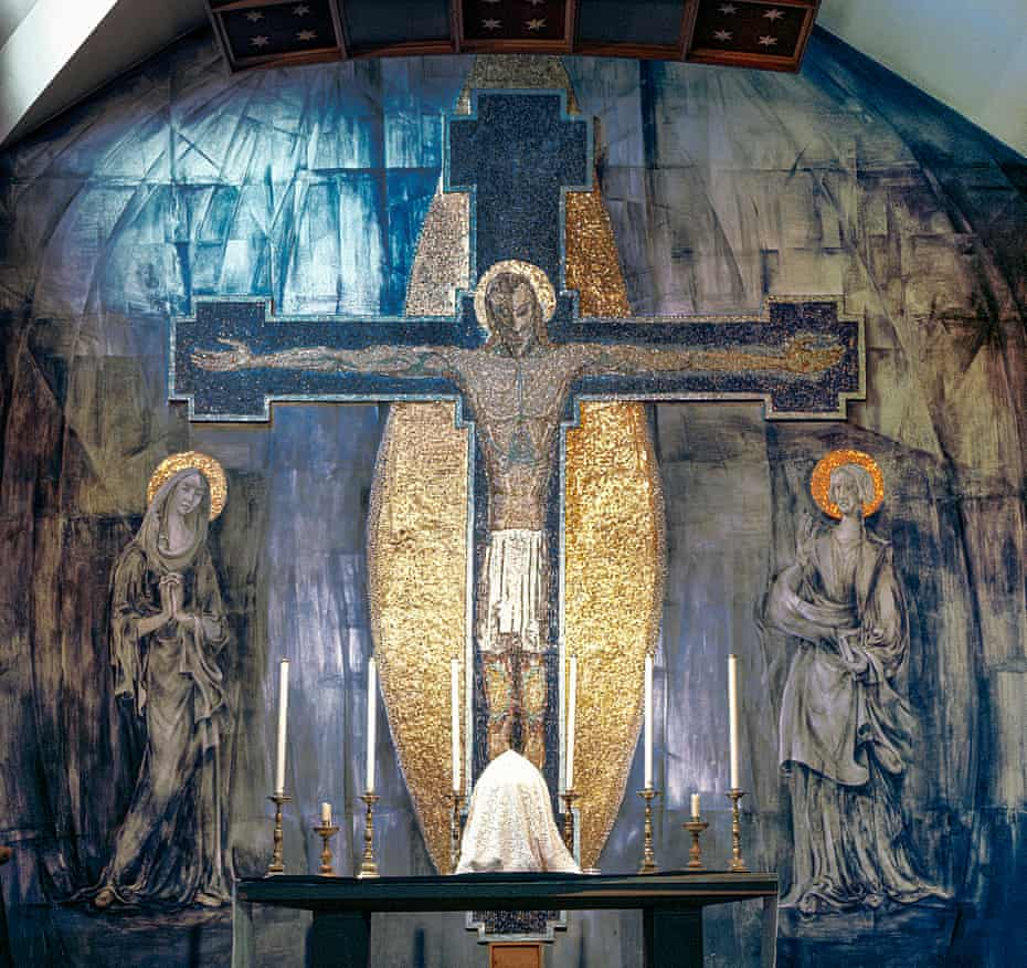 The Crucifixion by George Mayer-Marton, on the wall of the Church of the Holy Rosary in Oldham.