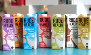 Some of Rude Health's milk substitute products