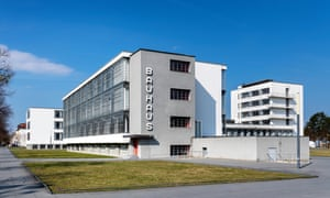 Bauhaus HQ, the Dessau art school building designed by Walter Gropius in 1925.