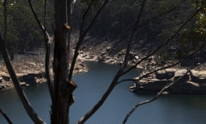 Warragamba Dam in Sydney. Australia's public drinking water quality is under threat from bushfires.