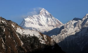 Nanda Devi in northern India where eight climbers went missing after a suspected avalanche in May.