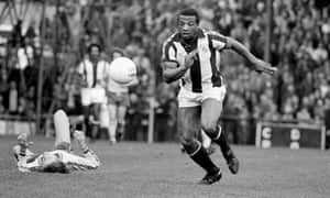 Cyrille Regis, playing for West Bromich Albion in 1978.