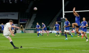 Owen Farrell of England converts after Itoje try.