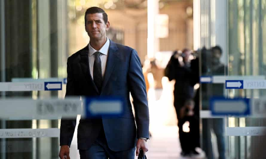 Ben Roberts Smith arrives at the federal court in Sydney on Friday.