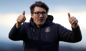Mick Harford says of his success after taking over from Nathan Jones: 'We just carried on and we didn't really change much.'
