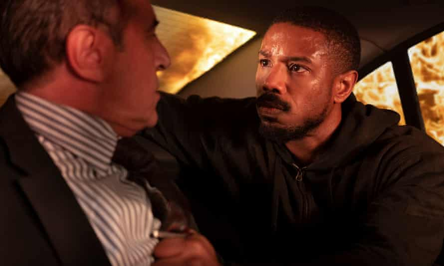 Michael B Jordan, right, in Tom Clancy's Without Remorse.