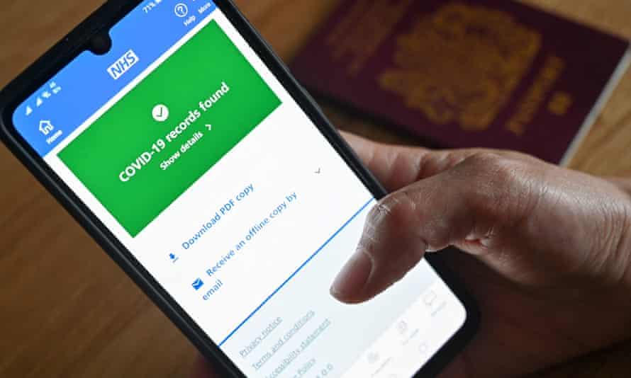 NHS app on smartphone