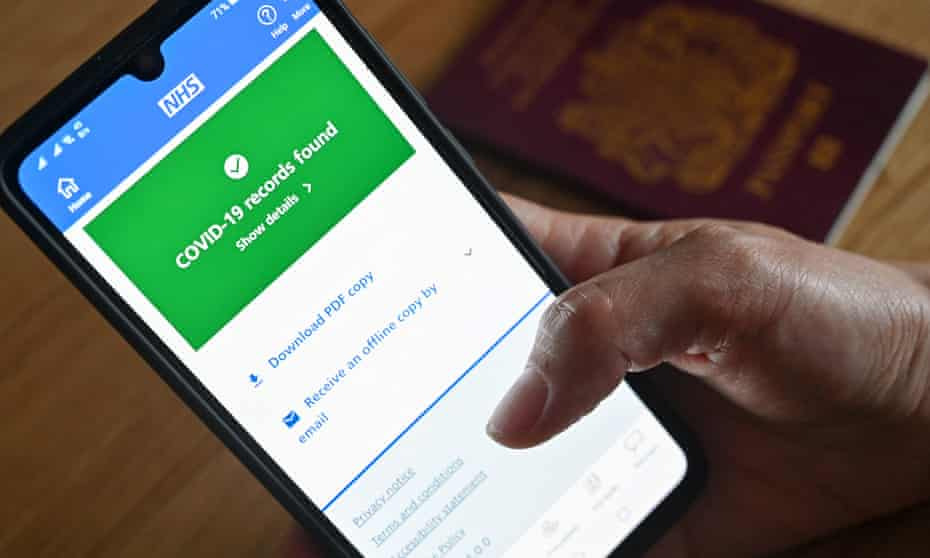 The NHS Covid pass app has gone down, NHS Digital confirmed on Wednesday.