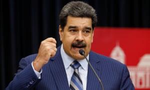 Nicolás Maduro speaks in Caracas, Venezuela on 12 December.