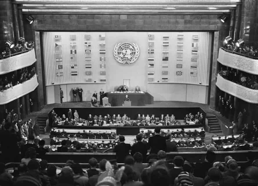 The UN general assembly in Paris two days after adopting the universal declaration of human rights.