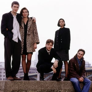 The cast at the beginning of the first series, in 1996.