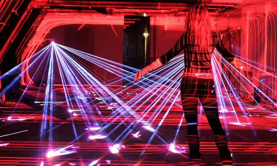 United visual artists'  installation  'Speed of Light' celebrating broadband.