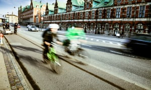 Copenhagen now plays host to more bikes than cars, with 265,700 cycles entering each day – compared with 252,600 cars.