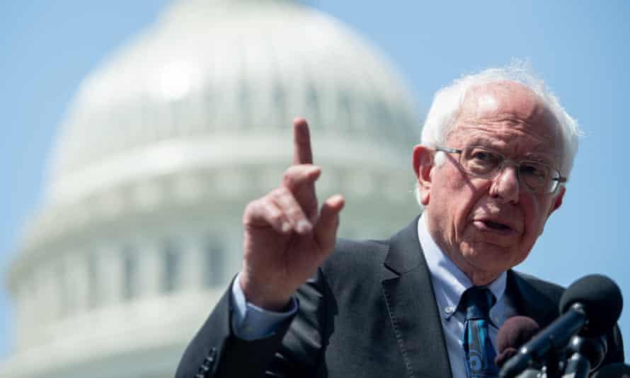 Bernie Sanders outside the US Capitol in Washington DC, on 24 June.