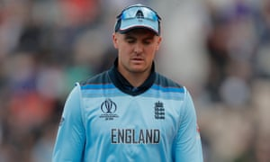 Jason Roy left the field in the eighth over of the game with a hamstring injury.