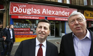 Labour's candidate Douglas Alexander is joined by former minister Alan Johnson campaigning in Paisley and Renfrewshire South.