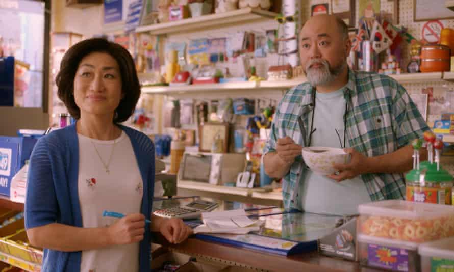 Jean Yoon as Mrs Kim and Paul Sun-Hyung Lee as Mr Kim in Kim's Convenience
