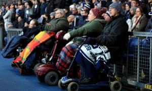 Disabled fans at a football match