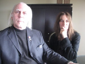 Stephen Walker and Patti Smith in the 3RRR studios in 2008.