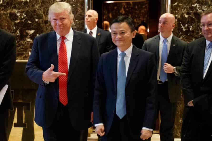 Jack Ma with Donald Trump, January 2017