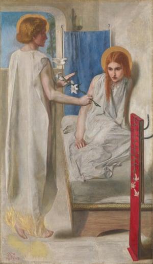 Ecce ancilla domini! (The Annunciation) by Dante Gabriel Rossetti (1849–1850).