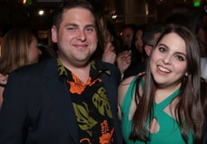 Beanie Feldstein with her brother, actor Jonah Hill