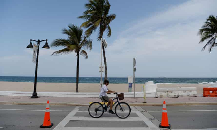 Fort Lauderdale Beach as businesses begin to reopen in Florida on Tuesday.