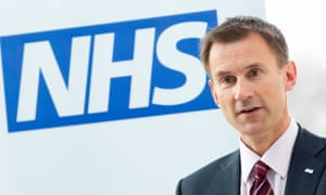 The health secretary, Jeremy Hunt, claims there is a 'Monday to Friday' culture in the NHS.