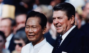 Philippines president Ferdinand Marcos with US president Ronald Reagan in 1982.