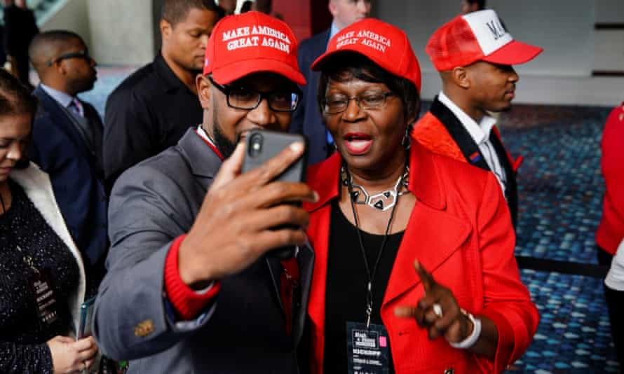 Attendees at President Donald Trump's Black Voices for Trump Coalition rollout event in Atlanta.