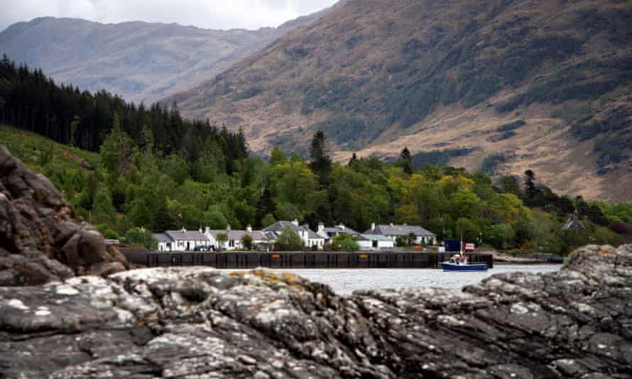 Inverie on the Knoydart peninsula, home to the Old Forge pub.