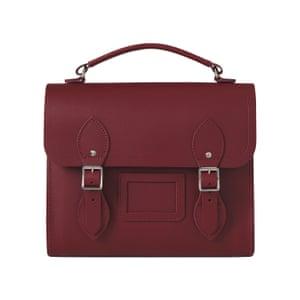 burgundy leather satchel style rucksack Cambridge Satchel Co.