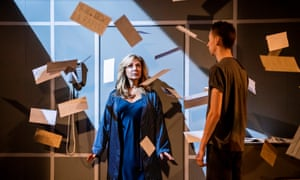 Tracy-Ann Oberman (Brenda Kapowitz) and Scott Folan (Matthew Kapowitz) in Mother Of Him by Evan Placey @ Park Theatre.