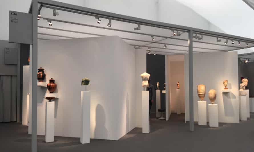 Jean-David Cahn's stand at the Frieze Masters fair in Regent's Park in early October.
