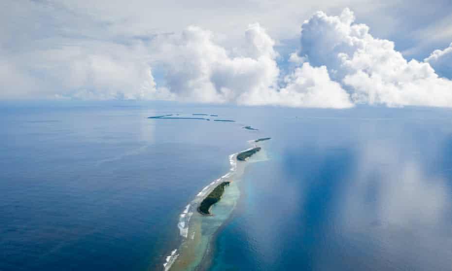 The islands in the Funafuti atoll