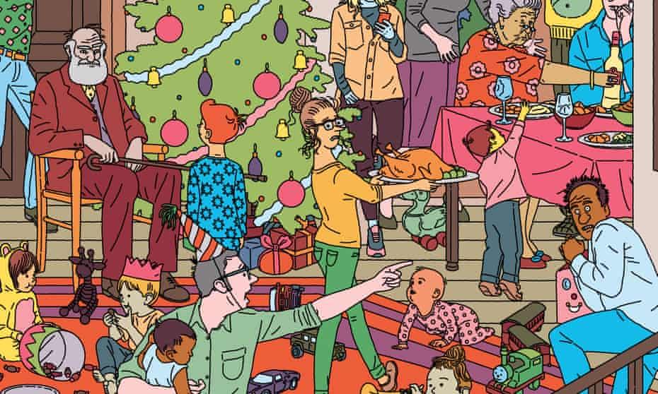 christmas chaos illustration