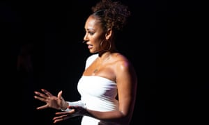 Compelling ... Mel B on stage at the Grand theatre, Leeds.