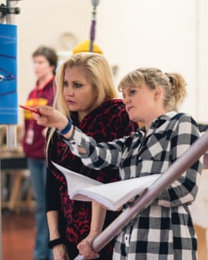 Karina Jones, left, with Shannon Yewcroft in RSC rehearsals for As You Like It.