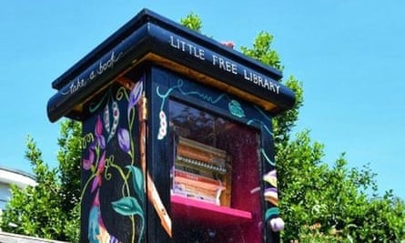 Help yourselves … one of the Little Free Library boxes that have been popping up in Leeds.