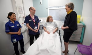 Theresa May Thanks Staff at Frimley Park hospital in Surrey