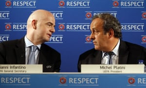 Gianni Infantino and Michel Platini in 2014. Platini says: 'After what I did for him, he did something against me.'