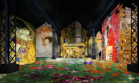 Design for the staging of Atelier des Lumières' Klimt exhibition.