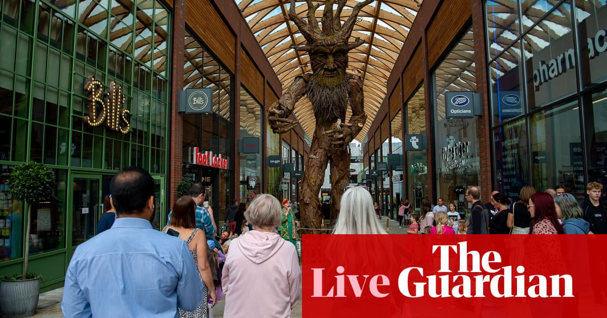 British retail sales fall unexpectedly in August – business live
