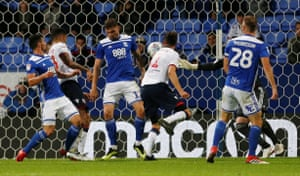 Bolton Wanderers' Will Buckley scores.