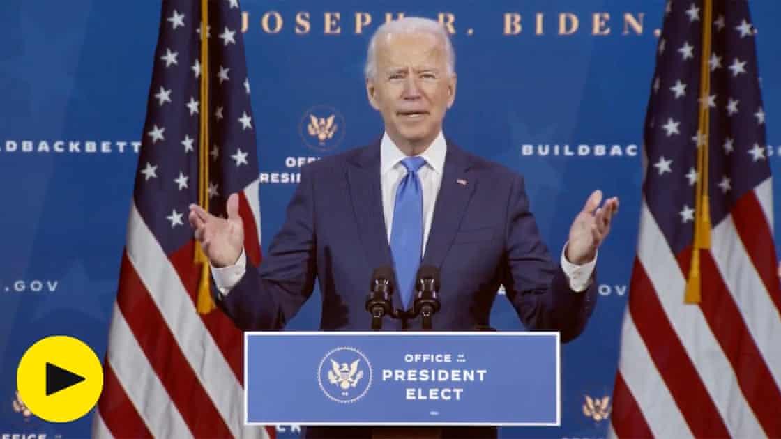 'Help is on the way,' says Joe Biden as he announces new economic team – video