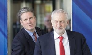 Keri Starmer and Jeremy Corbyn in Brussels, March 2019.