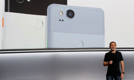 Google's Queiroz speaks during a launch event in San FranciscoMario Queiroz, Vice President of Product Management at Google, speaks about the Pixel 2 phone during a launch event in San Francisco, California, U.S. October 4, 2017. REUTERS/Stephen Lam