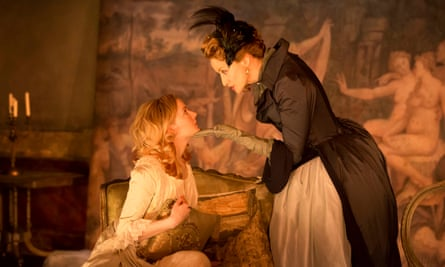 Desire and destruction... Morfydd Clark and Janet McTeer in Les Liaisons Dangereuses.