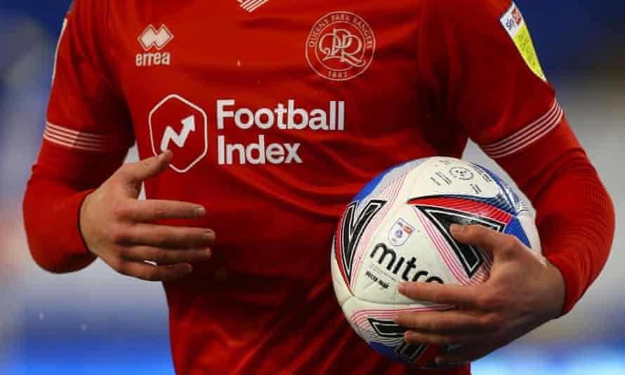 Football Index logo on the QPR shirt